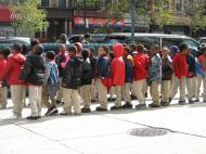Elementary school students on a walk. Harlem, New York City (photo by Dmitri M. Bondarenko)