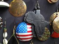 """Africa in America"": earrings on sale at an African market in New York City (photo by Veronica V. Usacheva)"