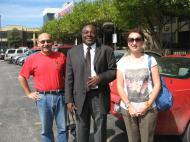Veronica V. Usacheva and Dmitri M. Bondarenko with an informant – St. Louis-based Nigerian composer, conductor and pianist, collector and popularizer of African and African American folk music Mr. Fred Onovwerosuoke
