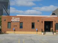 "The building of ""The St. Louis American"" weekly, a Black audience oriented media published since 1928 (photo by Dmitri M. Bondarenko)"