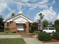 Livingston Chapel of the African Methodist Episcopal Church, founded in 1922, in Guntersville Black neighborhood The Hill; in its community the fieldwork was being done (photo by Dmitri M. Bondarenko)