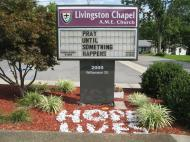 Livingston Chapel community's motto (photo by Dmitri M. Bondarenko)