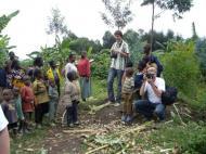 Антропологи в поле, северная Руанда