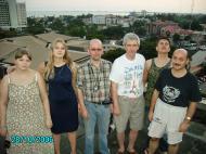 Члены экспедиции. Слева направо: А.А, Банщикова, Д.А. Халтурина, А.В. Коротаев,