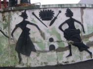 Ограда дворца оба – традиционного правителя Лагоса (фото А.А. Банщиковой)