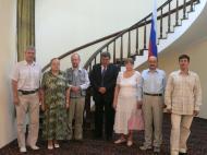 Участники экспедиции в посольстве Российской Федерации в Объединенной Республике