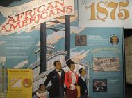 История Сент-Луиса в картинках в Музее истории штата Миссури: прибытие в город большого числа бывших рабов с Юга после отмены рабства (фото Д.М. Бондаренко)