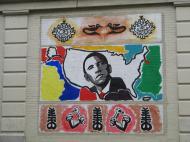 Граффити в черном районе Роксбери в Бостоне