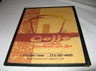 Меню одного из эфиопских ресторанов на Балтимор-авеню в Южной Филадельфии