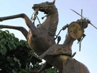 Буркина-Фасо Легендарная основательница королевства моси Йененга на коне - символ Буркина-Фасо