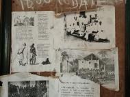 Стенд в церкви, рассказывающий о работорговле и борьбе с ней миссионеров (фото А.А. Банщиковой)