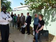 Встреча российской делегации в аэропорту Джубы - Южный Судан.