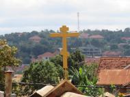 Вид с крыши старообрядческой церкви в Мперерве, пригород Кампалы
