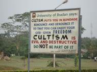 Христианская агитация против возрождения язычества на кампусе Университета Ибадана (фото А.Н. Гаджиева)