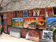 Современная танзанийская живопись в примитивистском стиле «тинга-тинга»: постоянная выставка-продажа в кооперативе художников. г. Дар-эс-Салам (автор А.Д. Саватеев)